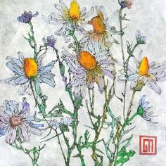 Daisies, Watercolour and Pen, by Sofia Perina-Miller