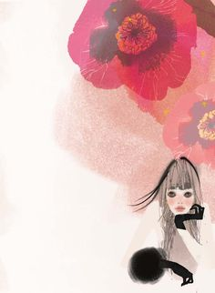 Toko Ohmori illustration - what delicate and soft colors!