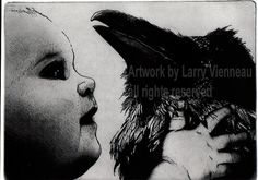 PETER AND SOLOMOM  by Larry Vienneau Etching 5 inch by RAVENSTAMPS, $37.50