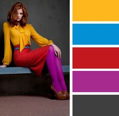 My tights and shoes would be green or at least another color Colour Combinations Fashion, Color Combinations For Clothes, Fashion Colours, Colorful Fashion, Color Combos, Color Schemes, Color Balance, Color Harmony, Colourful Outfits