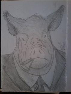#illustration #ilustração #sketch #sketchbook #draw #drawing #desenho #porco #pig