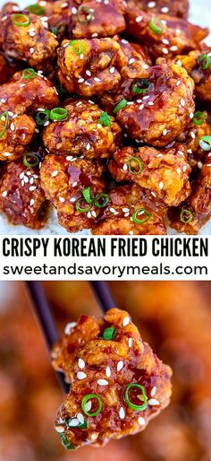 Korean Fried Chicken, Fried Chicken Recipes, Fried Chicken Sauce, Keto Chicken, Baked Chicken, Easy Recipes With Chicken, Easy Recipes For Two, Easy Korean Recipes, Fried Chicken Dinner