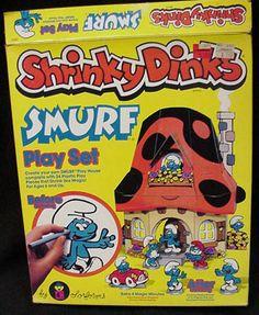 Smurf Shrinky Dinks