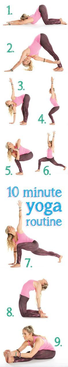 Need a midday energy boost? Set aside 10 minutes of your time to relax with these easy yoga moves.
