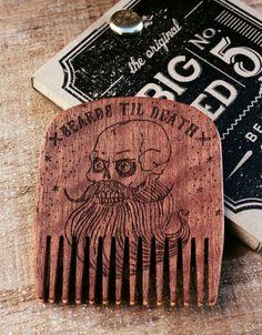 GROOM: Wooden Engraved Beard Combs by BigRedBeardCombs