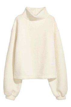 Plyšový pulóver - prírodná biela - ŽENY | H&M SK 1