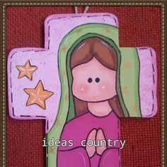 Cruz virgen recuerdo para primera comunion o bautizo
