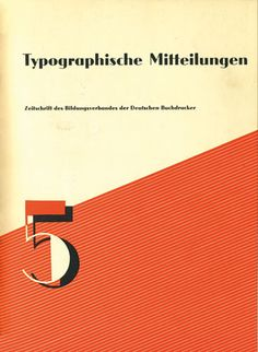 Cover Typographische Mitteilungen, 29. Jahrgang, Heft 5, Mai 1932.