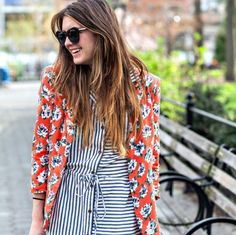 Stripes and floral print...