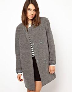Shop the latest Monki Oversized Boyfriend Coat trends with ASOS! Cheap Winter Coats, Winter Coats Women, Coats For Women, Grey Fashion, Love Fashion, Fashion Outfits, Womens Fashion, Boyfriend Coat, Mode Mantel
