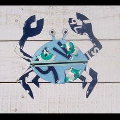 Crabs are CRAZZZZY Crab Shell Beach Recycled by recycledartco, $95.00