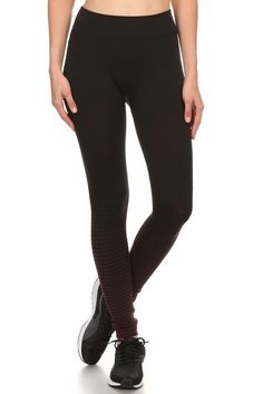 For a more subtle, yet still striking style that will keep you oh so cozy reach for our Half Stripe Fade Fleece Lined Leggings. Featuring a fading stripe design on the lower legs, this leg fashion piece provides you with a simple, yet fun look that will still make your outfit stand out. They are made of a comfy polyester fabric and lined with a super warm and soft fleece material so you can feel warm and wonderful on the chilliest days.