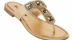 Leather Jewel Toepost Flat leather jewelled toe post in a gold colour. With stunning jewel and bead detail that will surely bling up your wardrobe. Leather sandals Features: Upper: Leather Lining, sock, sole: Other This it http://www.comparestoreprices.co.uk/womens-shoes/leather-jewel-toepost.asp