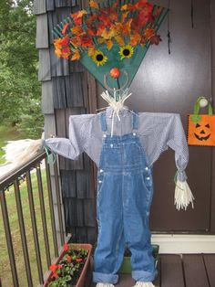 Pictures! Of my Rake Scarecrow, and Spider   Taste of Home Community