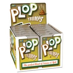 Boys age 8 are sure to have a giggle with these Plop Trumps. This is a great gift which is a twist on the classic game Top Trumps.
