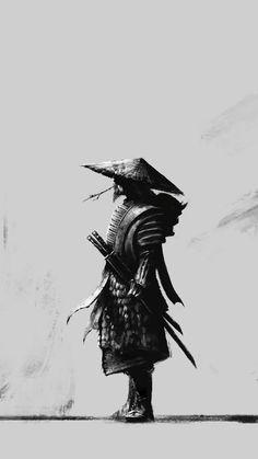 It is better to be Warrior sitting in the garden; then a gardener at war. black and white sketch samurai ninja Samurai Tattoo, Ronin Tattoo, Demon Tattoo, Warrior Tattoos, Ninja Kunst, Fantasy Samurai, Art Ninja, Samurai Wallpaper, Ninja Wallpaper