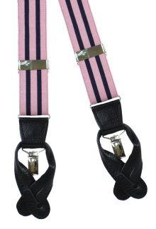Blake Pink/Navy - Suspenders/Braces