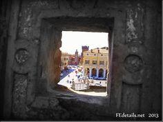 Visuali dal Giardino degli Aranci del Castello Estense, Ferrara - Visuals from the Orange Garden of the Estense Castle,Ferrara, Italy, Photo...