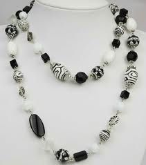 black bead necklace - Google Search