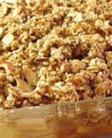 Diabetic Enjoying Food: DIABETIC APPLE CRISP This is one of my old Internet articles I came across in the archives. It was first published in February did make one change. Sugar Free Desserts, Gluten Free Desserts, Easy Desserts, Gluten Free Recipes, Dessert Recipes, Gf Recipes, Desserts For Diabetics, Flourless Desserts, Easy Sweets