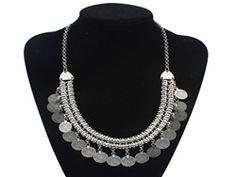 Vintage boho coin necklace