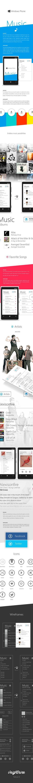 Windows Phone Music on Behance