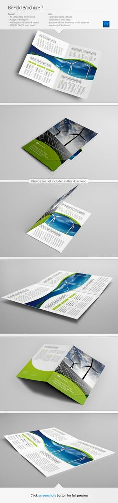 Brochure template #design #inspiration | via www.behance.net/gallery/Bi-Fold-Brochure-7/10500331