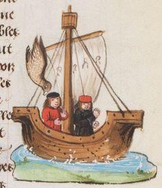 Friedrich II. von Hohenstaufen, Livre de l'art de chasser au moyen des oiseaux Bruges · ca. 1485-1490 Ms. fr. 170  Folio 41r