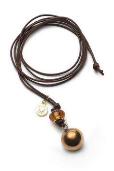 #proudmama #Bola #necklace ~ BB Basic round gold