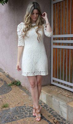 Look vestido de renda ~ Colecionadora de Moda