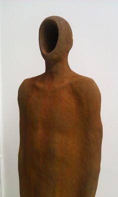 Emil Alzamora - Core, Resin, iron pigment, 40 x 10 x 6 in
