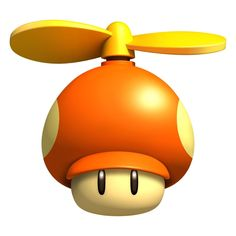The Propeller Mushroom is a Mushroom that appears in New Super Mario Bros. It is an orange. New Super Mario Bros, Super Mario Birthday, Super Mario Party, Super Mario Brothers, Super Smash Bros, Mario Bros., Mario Kart, Princesa Peach, Fire Flower