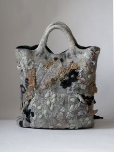 Felted bag - wouldn't think the colors work together - but they do!