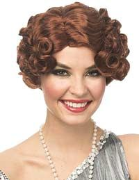Add sparkle with flapper headbands or flapper headdresses and hair accessories such as style tiaras, hair combs, hair clips & wigs. Apple Costume, Star Costume, Gatsby Headpiece, Flapper Headband, 1920s Makeup Tutorial, Red Daisy, Pin Curls, 1920s Flapper, Wig Cap