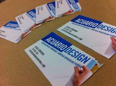 Parte de los últimos trabajos: diseño e impresión de tarjetas personales