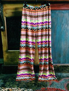 One pair of these Aztec printed palazzo pants left!