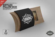 Rippled Hot Pillow Box MockUp by INCDesign on @creativemarket