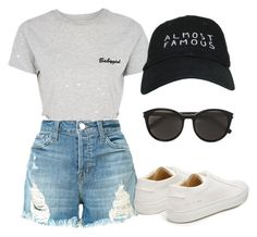 """""""Untitled #355"""" by the-a-way5 on Polyvore featuring J Brand, Topshop, Nasaseasons, Yves Saint Laurent and Common Projects"""