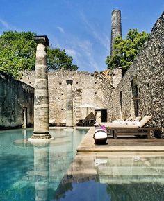 Hacienda Uayamon en Campeche, construida en 1700 rodeada de historia y naturaleza. Un verdadero paraíso! #buro247mx #estilodevida