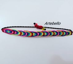 "20 Me gusta, 0 comentarios - ARTEBELLO (@artebeello) en Instagram: ""Pulsera hecho en hilo encerado con cierre fácil. Has tu pedido a 63566517. . . #collares…"" Macrame Bracelet Tutorial, Macrame Bracelets, Friendship Bracelets, Jewelry, Instagram, Handmade Bracelets, So Done, Necklaces, Jewlery"