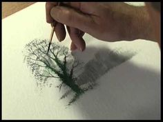 ▶ Watercolour Trees The Easy Way by Terry Harrison - YouTube