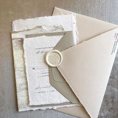 "Papertree Studio on Instagram: ""A pretty muted palette 🌿 #handmadepaper #waxseal #painted #mutedpalette #papertreestudio #custominvitation #weddinginvitations…"" Wedding Invitation Inspiration, Beautiful Wedding Invitations, Paper Tree, Wax Seals, Custom Invitations, Palette, Engagement, Bridal, Studio"