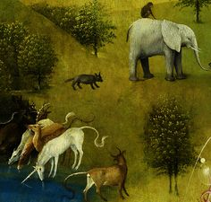 Hieronymus Bosch (Dutch, 1450-1516) ~ Detail from The Garden of Earthly Delights