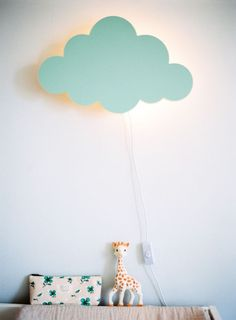 cloud-shaped lamps for the nursery - a touch of colour and creativity