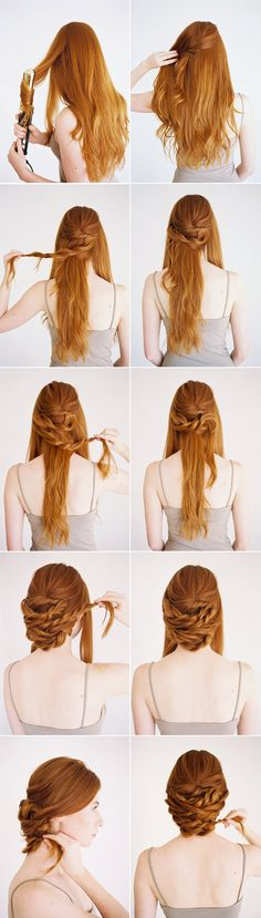 How-to create a low twisted updo