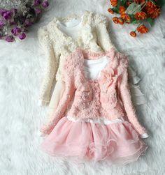 $15.50 (Buy here: https://alitems.com/g/1e8d114494ebda23ff8b16525dc3e8/?i=5&ulp=https%3A%2F%2Fwww.aliexpress.com%2Fitem%2FWinter-Kids-Girl-Clothing-Set-Fashion-coat-white-lace-dress-2pcs-girl-kids-clothing-set-winter%2F32702696034.html ) Winter Kids Girl Clothing Set Fashion coat+white lace dress 2pcs girl kids clothing set winter brand kids clothing set for girl for just $15.50
