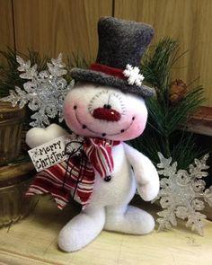 "Primitive HC Holiday Christmas Doll Snowman Snowflake 8"" Super Cute! #IsntThatCute #Christmas"