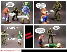 One of 2 reasons Master Chief isn't in Smash Bros. (The other being he's from Microsoft, not Nintendo).