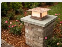 This Brick driveway lamp post great stone pillars with lights entrance photos and collection about Brick driveway lamp post ultramodern. Driveway brick lamp post Ideas images that are related to it Brick Driveway, Driveway Entrance, Driveway Landscaping, Gravel Driveway, House Entrance, Driveway Posts, Landscaping Design, Driveway Lighting, Outdoor Lighting