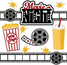 Movie Night SVG Collection svg files for scrapbooking free svg files cute clipart